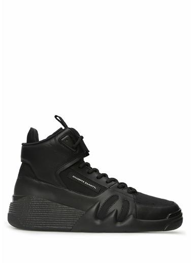 Giuseppe Zanotti Giuseppe Zanotti Talon  Logolu Erkek Deri Sneaker 101551007 Siyah